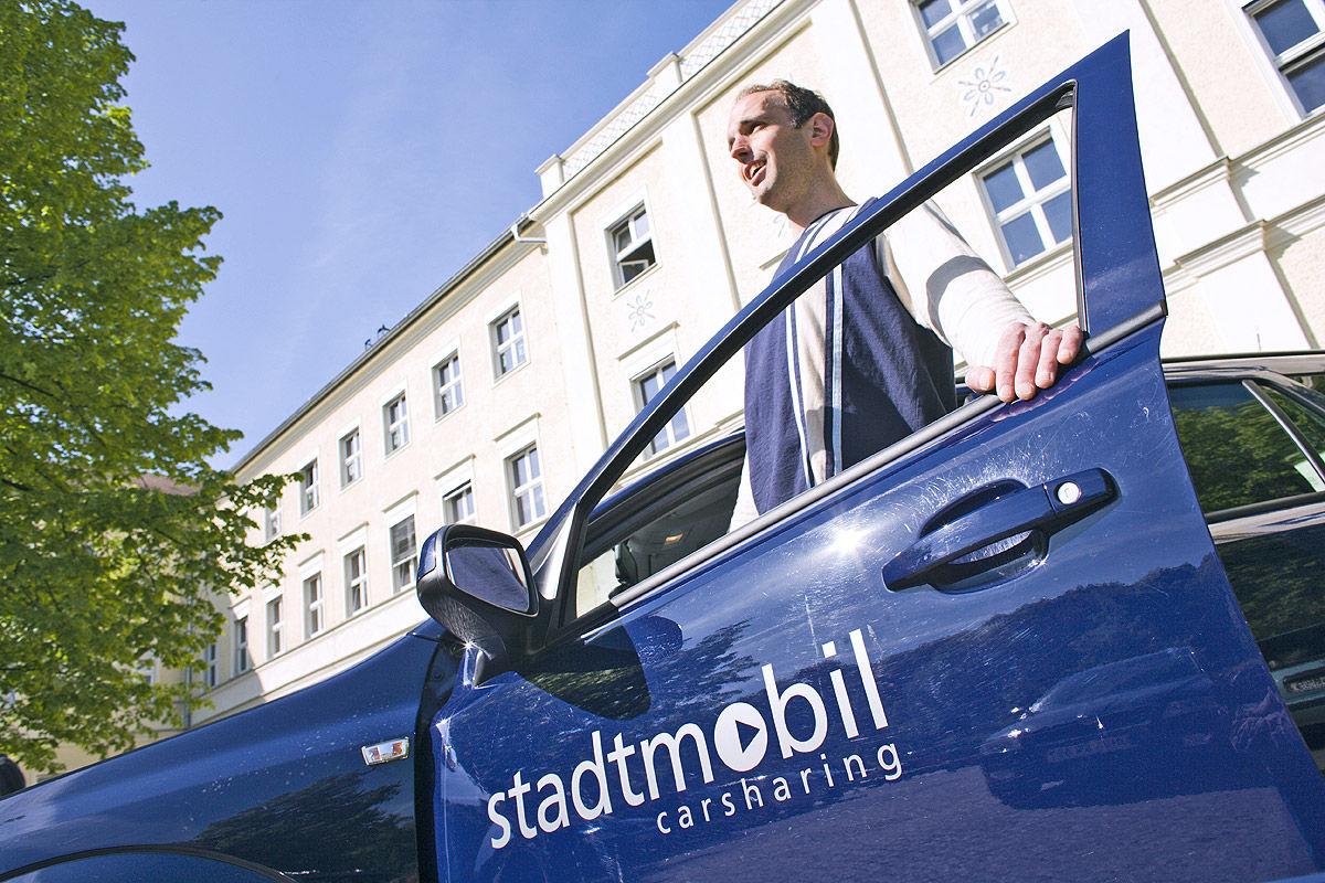 Carsharing: Fahrzeug von Stadtmobil