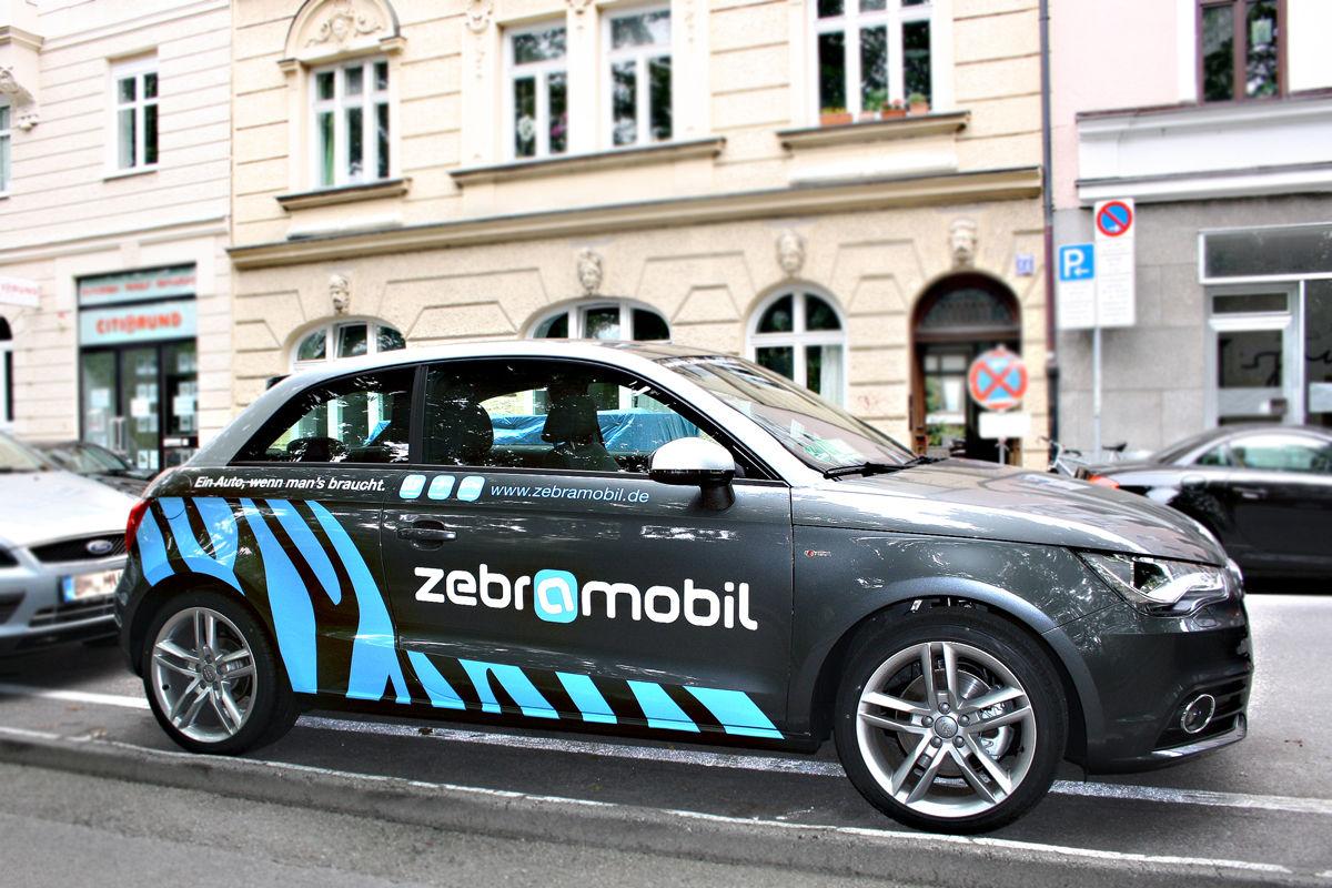 Carsharing: Fahrzeug von Zebramobil