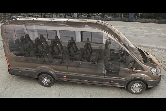 ford transit personentransporter mit 18 sitzen. Black Bedroom Furniture Sets. Home Design Ideas
