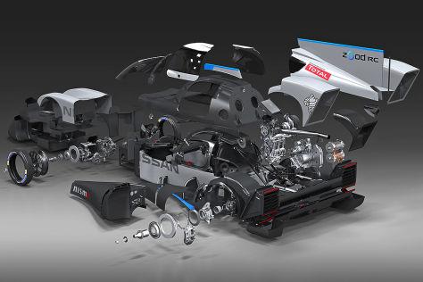 Nissan zeigt Le-Mans Renner als Explosionszeichnung