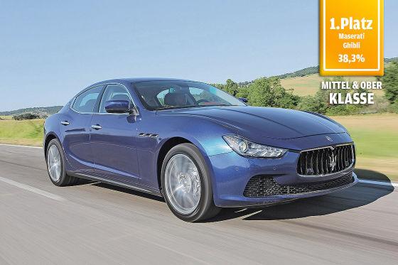Maserati Ghibli, 1. Platz in der Kategorie Mittel- und Oberklasse