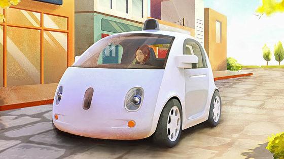Google-Prototyp von autonom fahrenden Auto