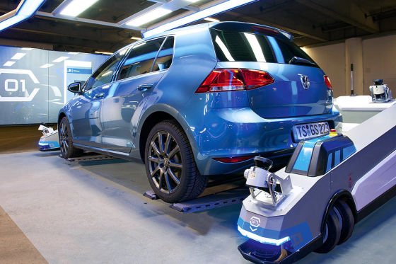 Park-Roboter in Düsseldorf: Einparkhilfe