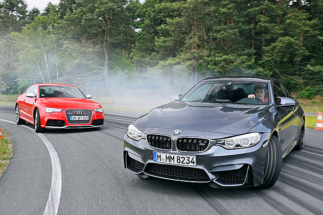 video bmw m4 vs audi rs 5. Black Bedroom Furniture Sets. Home Design Ideas