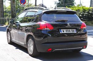Fahrt im Druckluft-Peugeot