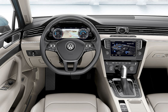 VW (Passat) CC Illustration Frontansicht