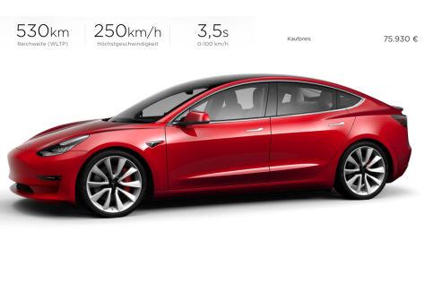 Tesla Model 3 2019 Test Preis Technische Daten Konfigurator