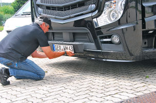 WM-Truck: Kennzeichen geklaut
