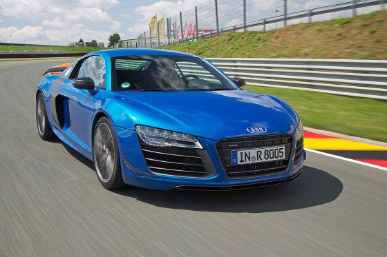 Audi R8 LMX blau Seitenansicht