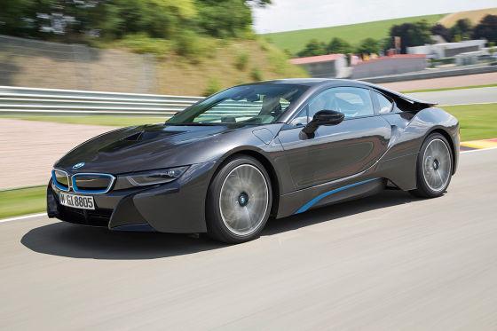 BMW i8 schwarz Seitenansicht