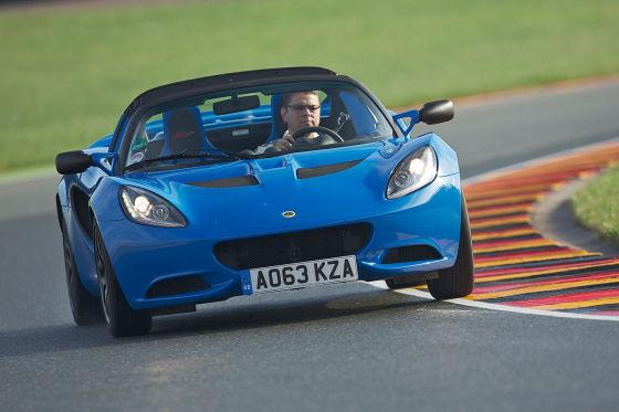 Lotus Elise S Club Racer blau Seitenansicht
