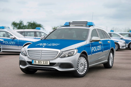 Mercedes C-Klasse T-Modell als Polizeifahrzeug