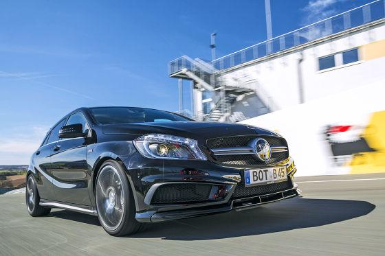 Mercedes Brabus A B45 AMG schwarz Frontansicht