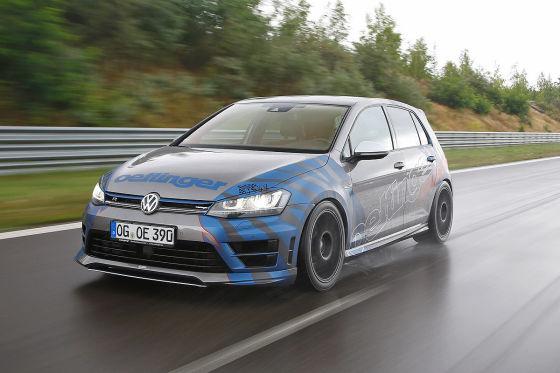 Oettinger Golf R 400hp blau Frontansicht