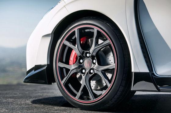 Honda Civic Type R Vorderrad und Bremse