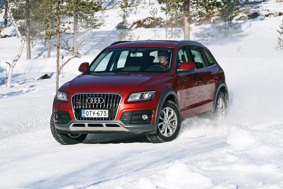 Winterreifen-Test, Audi Q5, Handling-Test