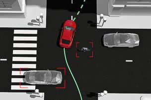 Volvo erkennt Fluchtweg