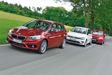 van-vergleich: 2er active tourer gegen c-max und sportsvan - autobild.de