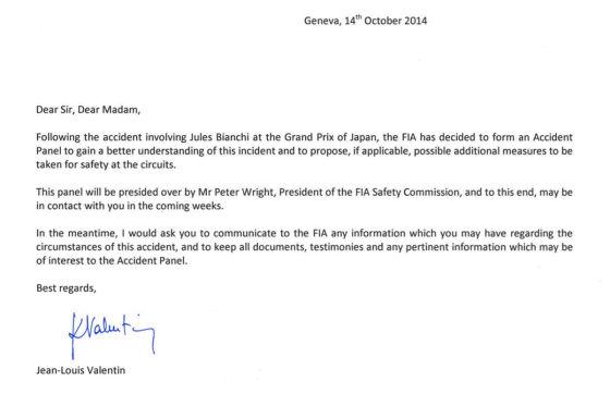 Formel 1 Untersuchung Zu Bianchi Fia Reagiert Auf Abms Report