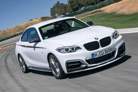 BMW M235i weiß Frontansicht