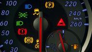 Kontrollleuchten im Auto