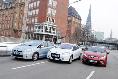 Renault Fluence, Opel Ampera, Toyota Prius