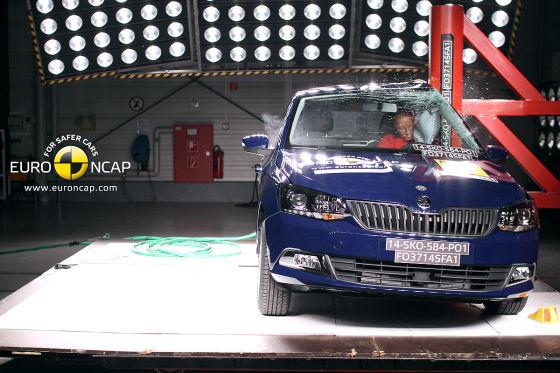 Euro NCAP Crashtest November 2014 Skoda Fabia III