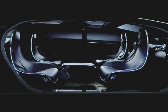 Interieur für ein neues Mercedes-Forschungsfahrzeug zum autonomes Fahren