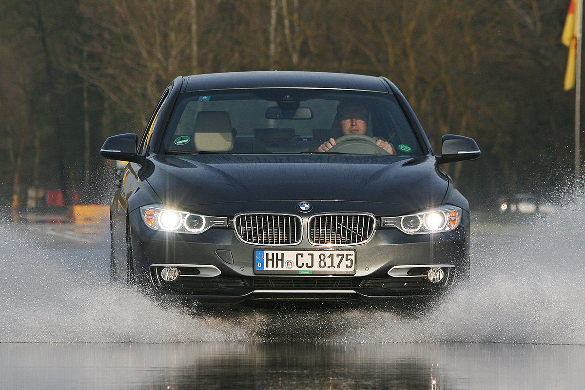 BMW 3er, Winterreifen-Test: Aquaplaning