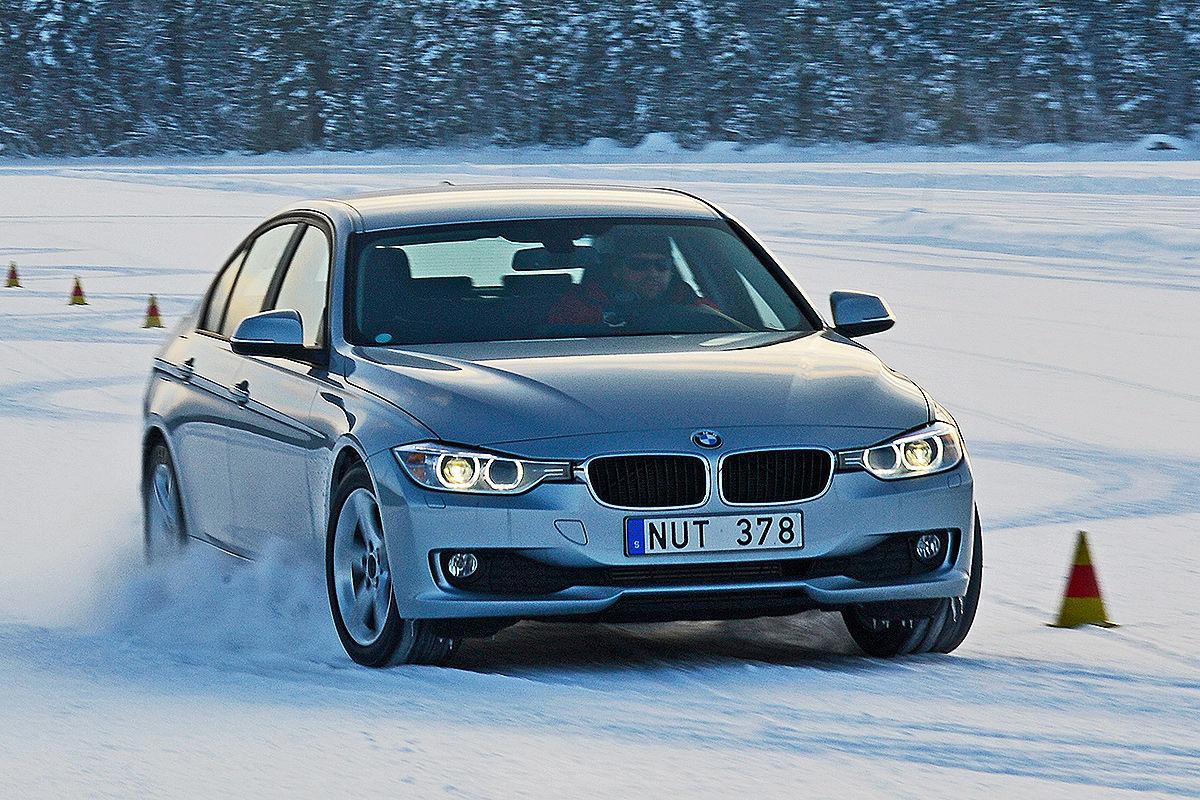 BMW 3er, Winterreifen-Test: Slalom
