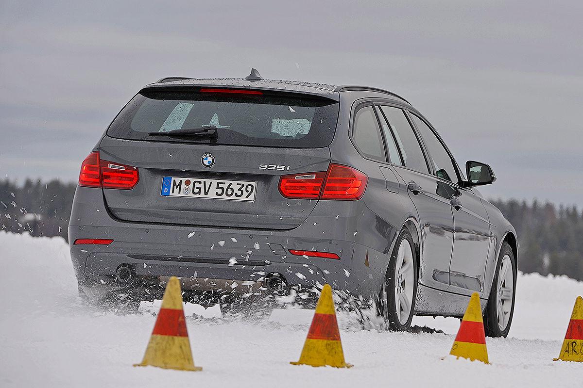 BMW 3er, Winterreifen-Test: Traktions-Messung