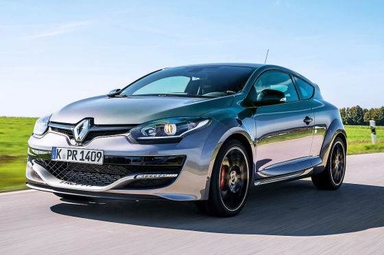 Renault Mégane RS Trophy silber Frontansicht