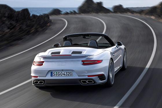 Porsche 911 Turbo Cabrio Facelift Erlkönig