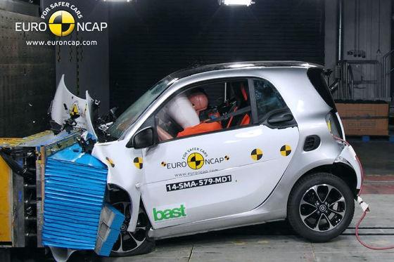 Smart fortwo Euro NCAP Crashtest Dezember 2014