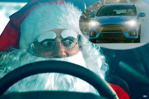 Santa driftet im Focus RS