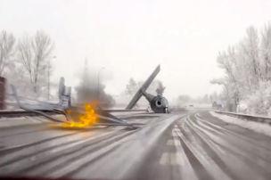 UFO crasht auf die A3