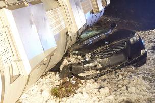 BMW-Fahrer mit Schutzengel