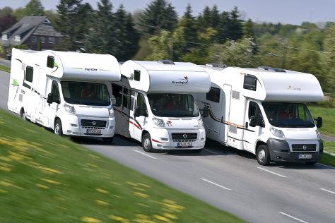 Wohnwagen Mit Etagenbett Test : Wohnmobil test: drei alkoven wohnmobile im vergleich autobild.de