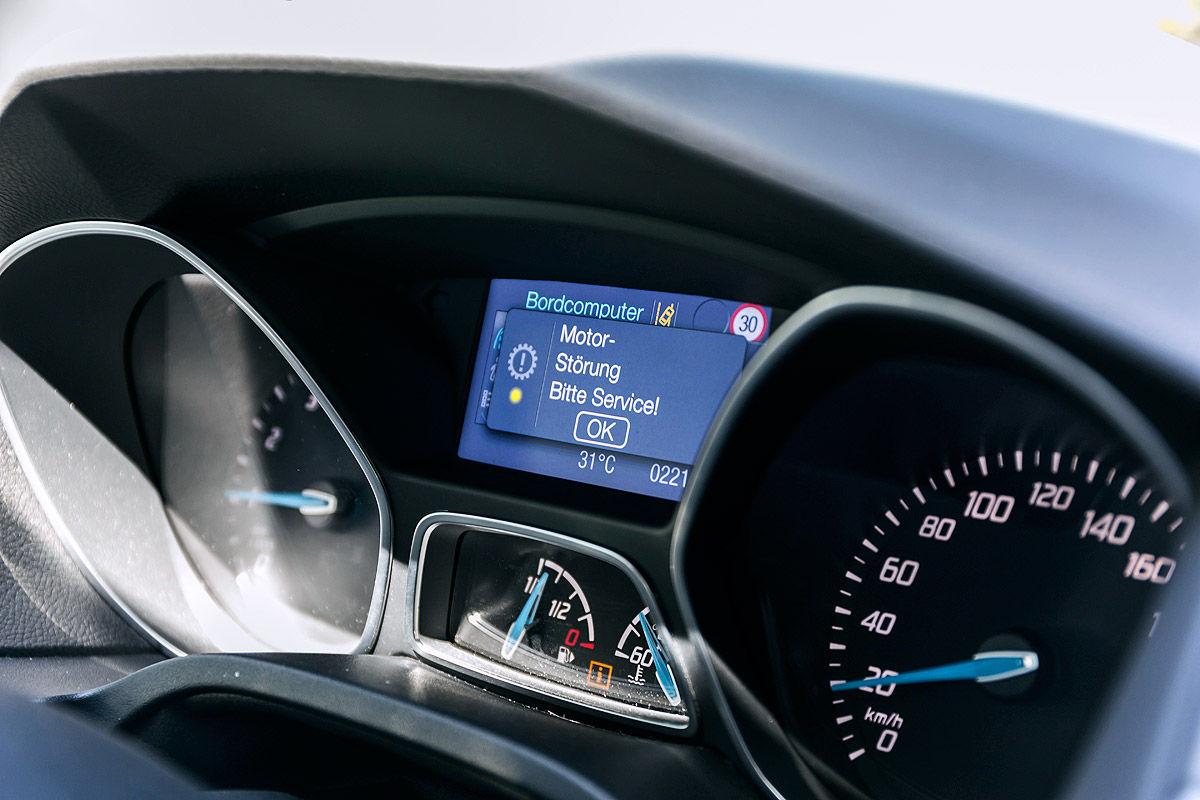 Ford Focus 1.0 EcoBoost Titanium, Fehlermeldung