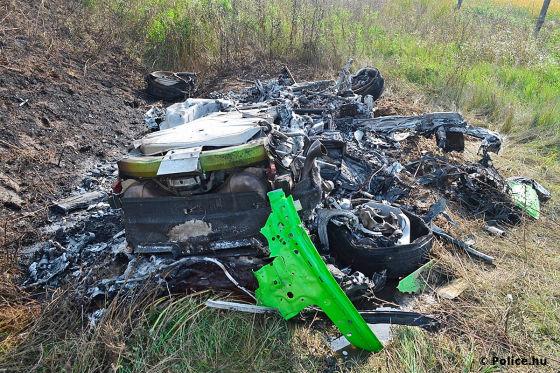 Lamborghini Unfall in Ungarn