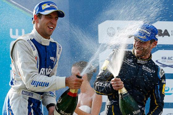 Felix Da Costa und Nicolas Prost bei der Siegerehrung in Buenos Aires