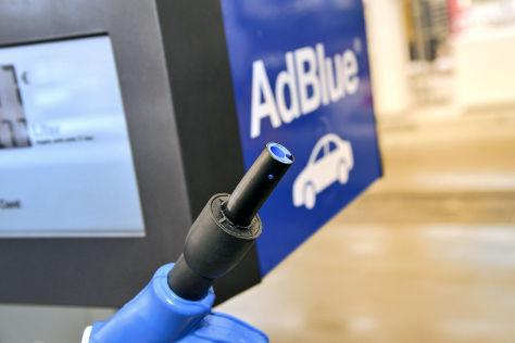 AdBlue-Zapfhahn an Total-Tankstelle