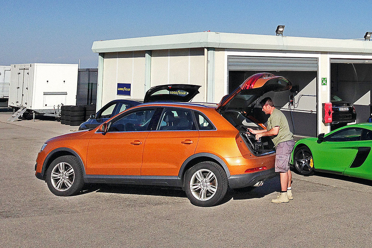 Audi Q3, Beladen