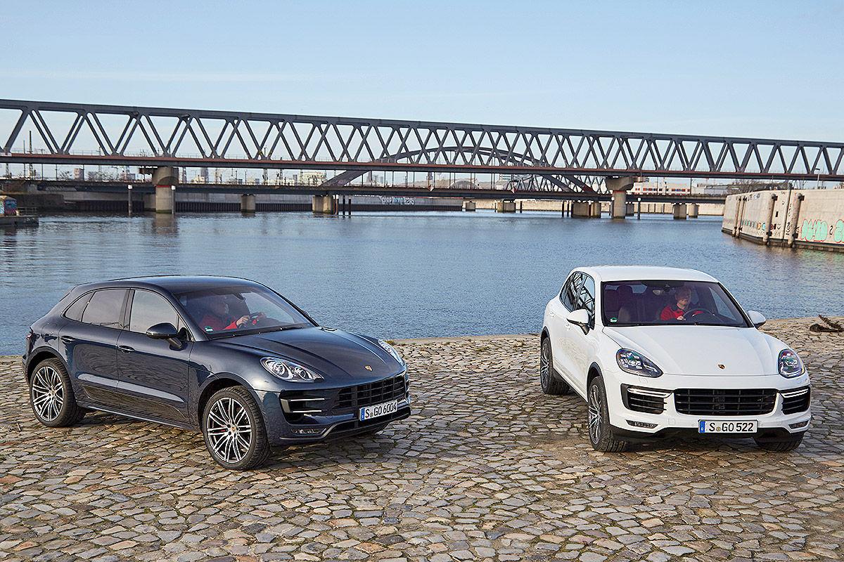 Porsche Macan Vs Porsche Cayenne Bilder Autobild De