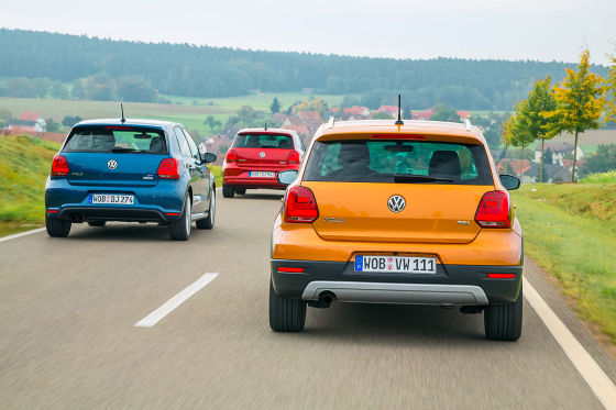 VW Polo, VW CrossPolo, VW Polo BlueGT
