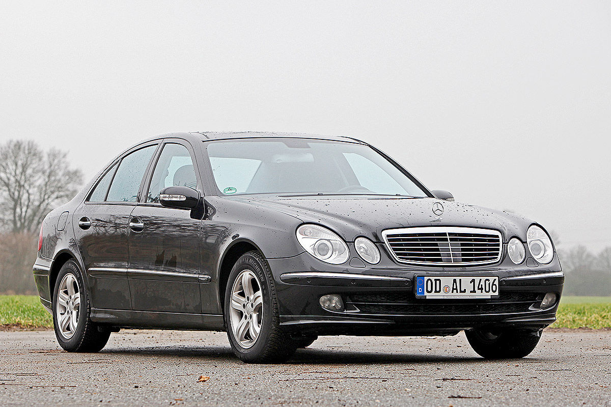 gebrauchte mercedes e klasse w211 im test bilder. Black Bedroom Furniture Sets. Home Design Ideas