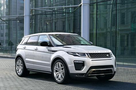 range rover evoque facelift autosalon genf  vorstellung autobildde