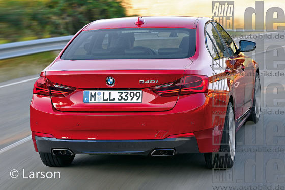 BMW 3er Heckansicht Illustration