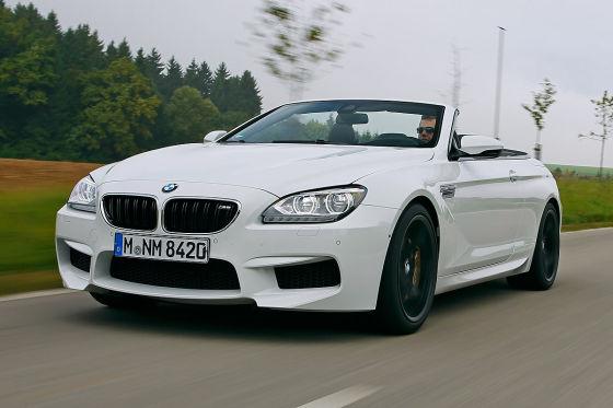 BMW M6 Cabrio Competition weiß Frontansicht