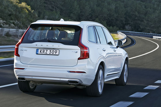 Volvo XC90 T8 Plug-in-Hybrid Heckansicht